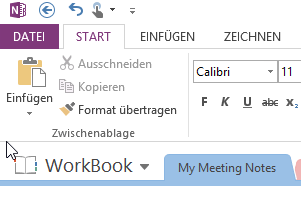 Notizen verwalten Outlook